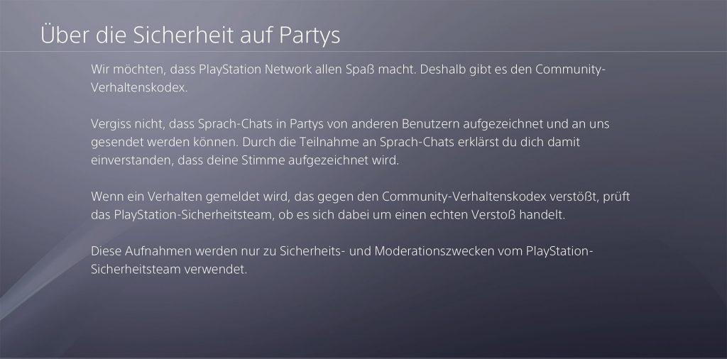 PS4 Sony Party Chat Grabaciones Seguridad