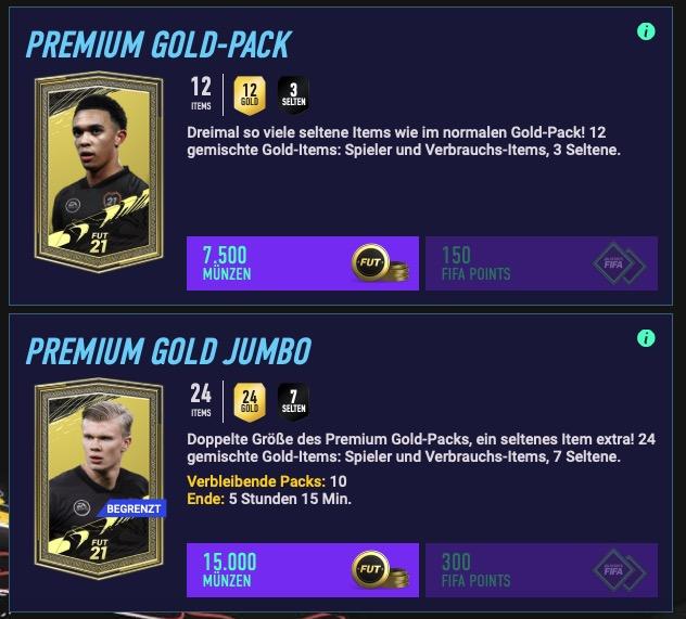 Paquetes de FIFA 21