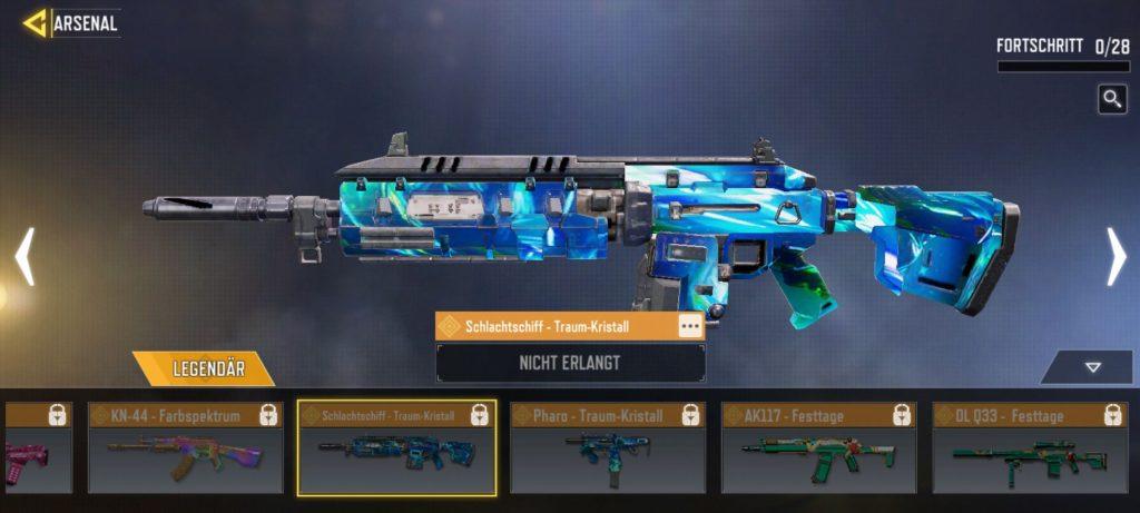 CoD Mobile man o war skin dream crystal