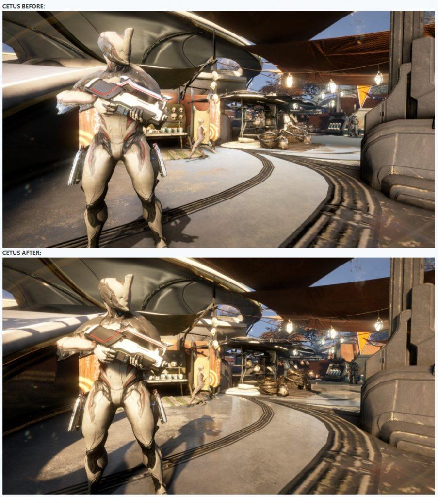 Comparación de Warframe Cetus