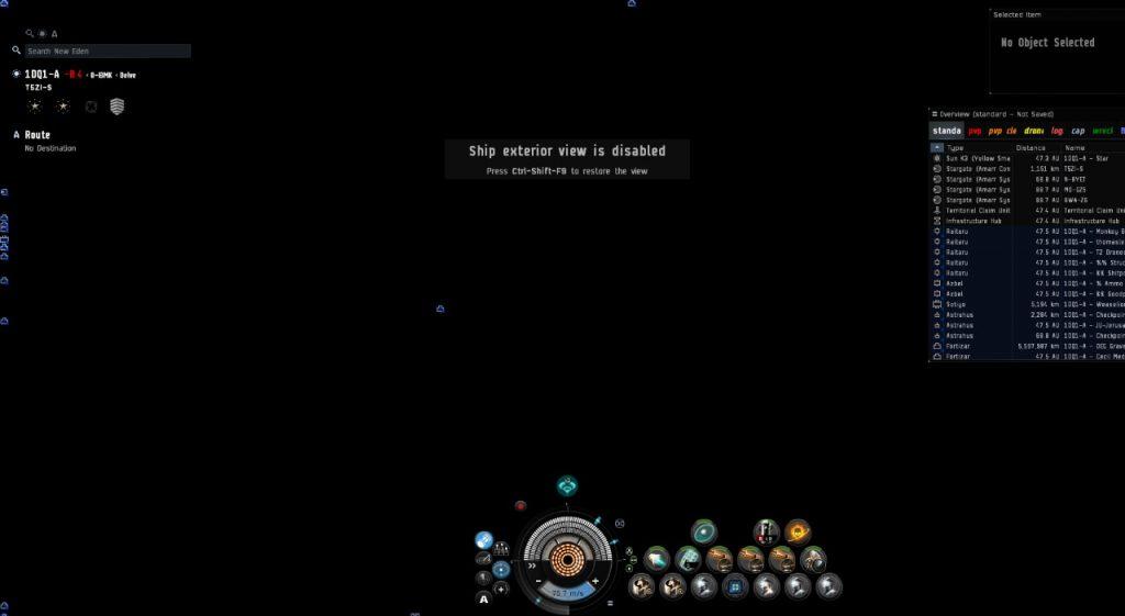 EVE Online sin gráficos