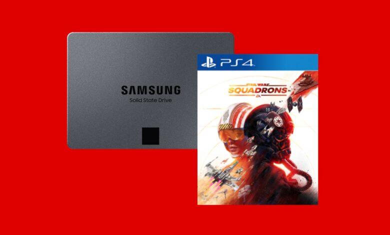 Mejor precio: Samsung SSD y Star Wars: Squadrons (PS4) en MediaMarkt