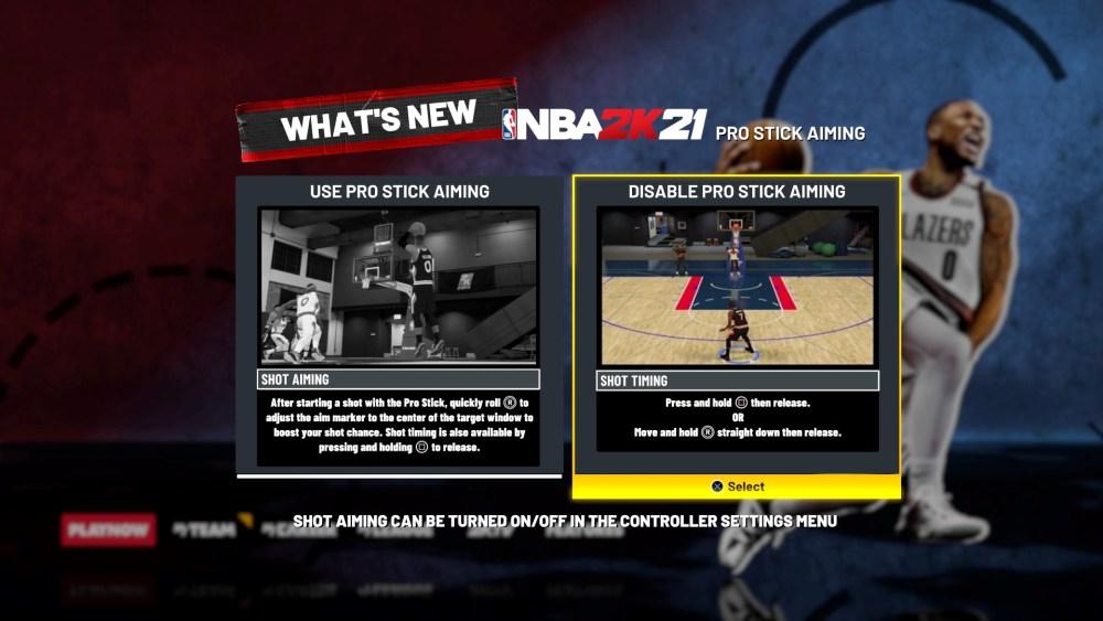 NBA 2K21 Pro Stick Apuntar