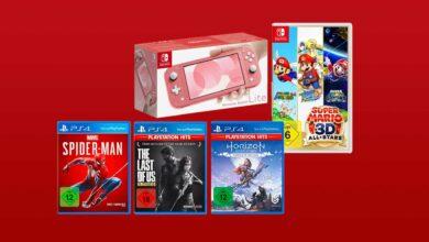 Photo of Ofertas de MediaMarkt: paquete de éxitos de Nintendo Switch Lite y PS4 más barato