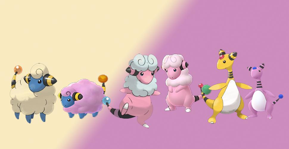 Familia Pokémon GO Shiny Voltilamm