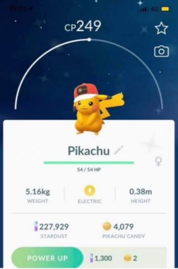 Pikachu World Cup Shiny