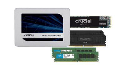 Reducción de SSD y RAM cruciales en Amazon