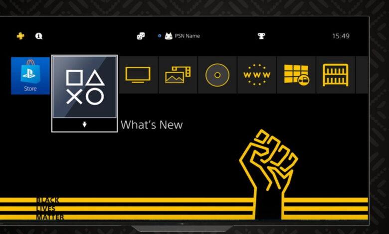 """Sony está regalando el tema """"Black Lives Matter"""" para la PS4, que no se adapta a todos"""