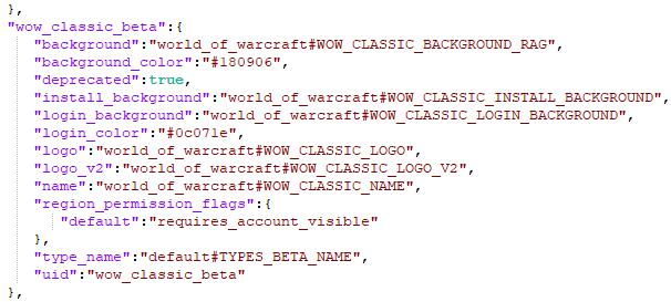 WoW Classic Code Beta