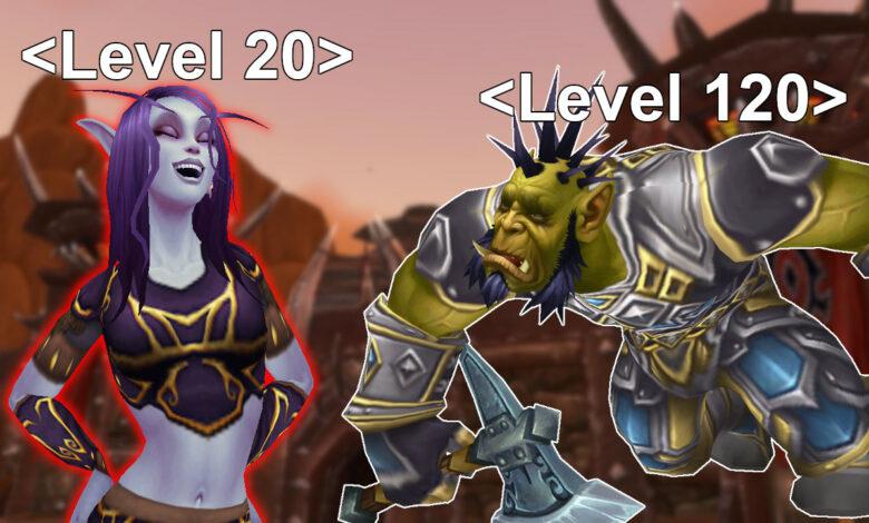 WoW: Crazy - Pequeño jugador en el nivel 20 desmantela personajes de nivel 120