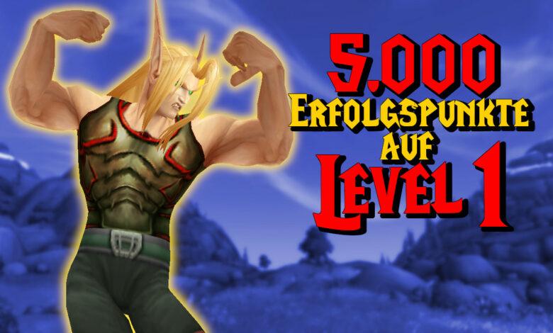 WoW: Crazy: el personaje en el nivel 1 tiene más de 5,000 puntos de logro