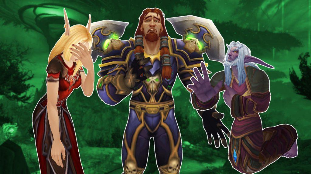 Personajes tristes de WoW elfo de sangre elfo de la noche humano
