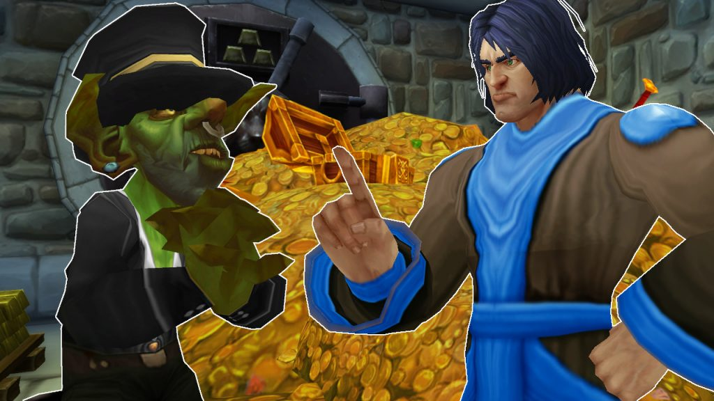 WoW GM Game Master Goblin cry gold title título 1280x720