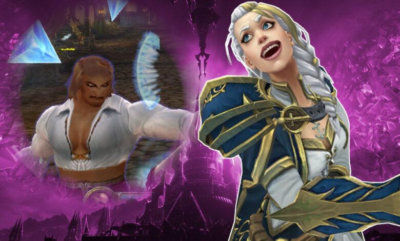 WoW: un extraño error convierte a los magos en extrañas drag queens
