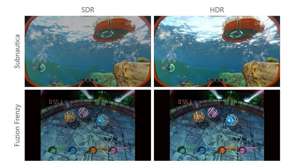 Comparación HDR automática de Xbox Series X Series S