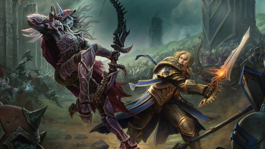 Título de WoW Battle for Azeroth Sylvanas versus Anduin 1280x720