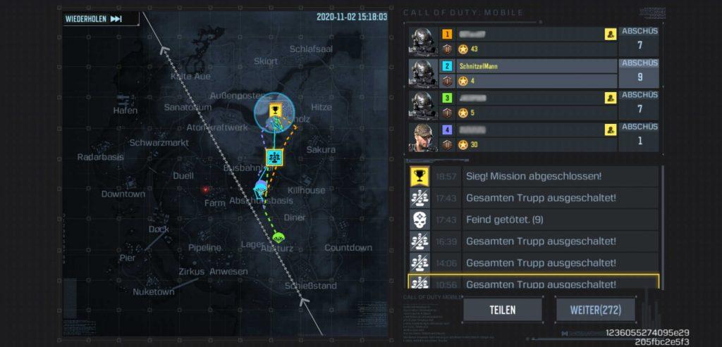 informe de batalla real de bacalao móvil