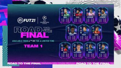 FIFA 21: Road To The Final Team 1 - Tarjetas dinámicas UCL y UEL