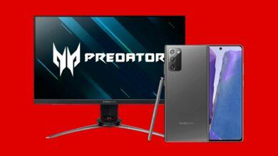 Monitor de juegos Acer y Galaxy Note 20 al mejor precio en MediaMarkt