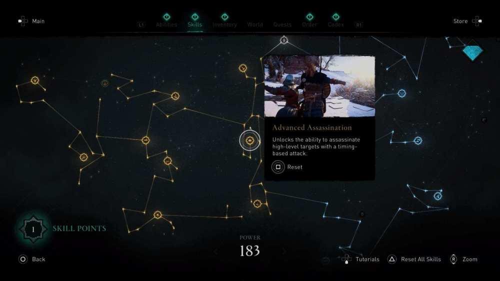 Árbol de habilidades de Assassin & # 39; s Creed Valhalla