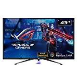 Monitor para juegos Asus ROG Strix XG438Q de 109,22 cm (43 pulgadas) (4K, 120Hz, FreeSync 2 HDR, DisplayHDR 600, Shadow Boost, Aura Sync) negro