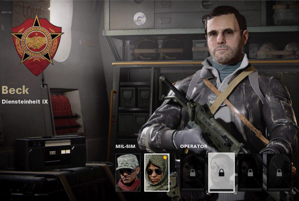 Operador de la Guerra Fría de CoD Beck