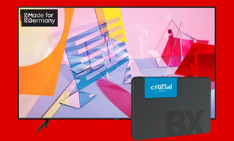 Samsung QLED TV y Crucial SSD al mejor precio en MediaMarkt