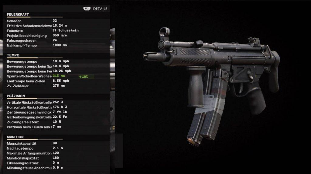 cod black ops armas de la guerra fría configuración mp5 para nivelar