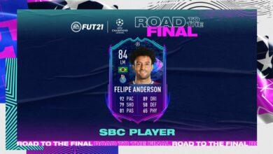 FIFA 21: SBC Felipe Anderson Camino a la final - Requisitos y soluciones