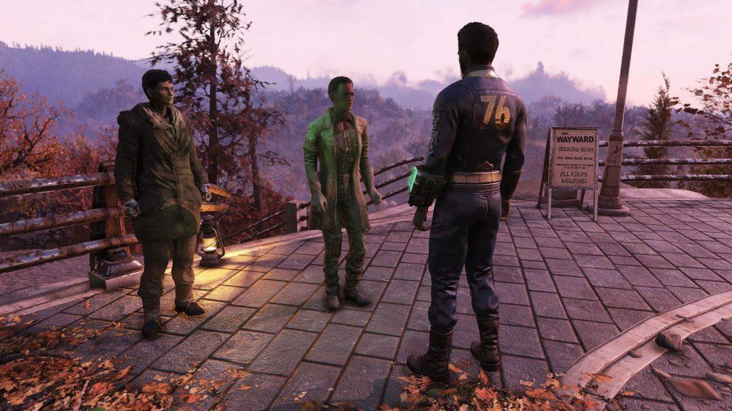 Fallout 76 Wastelanders primeros PNJ