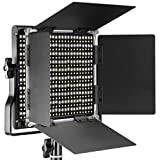 Neewer LED bicolor regulable con soporte en U y luz de video profesional Barndoor para estudio, grabación de video, marco de metal duradero, 660 cuentas LED, 3200-5600K, CRI 96+ (enchufe de la UE)