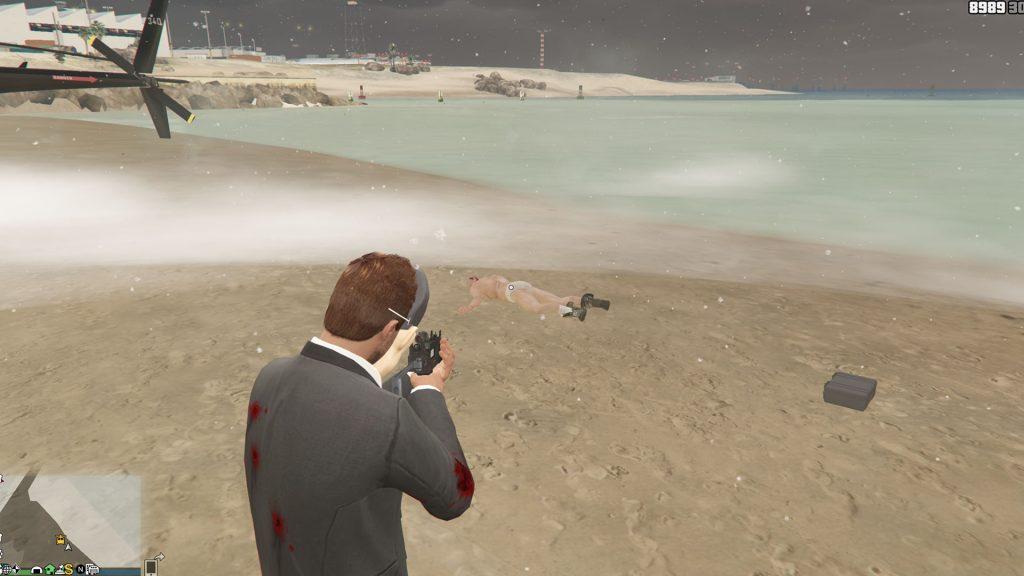 Maleta de playa Corpse de GTA Online