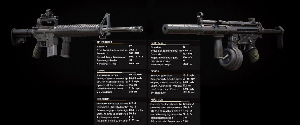 Cod cold was comparación de armas m16 vs mp5