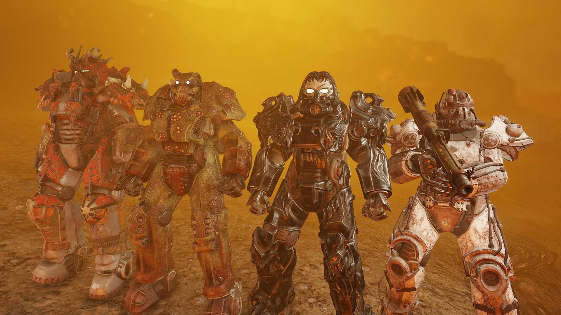 Fallout 76 Servoarmadura de cuatro jinetes
