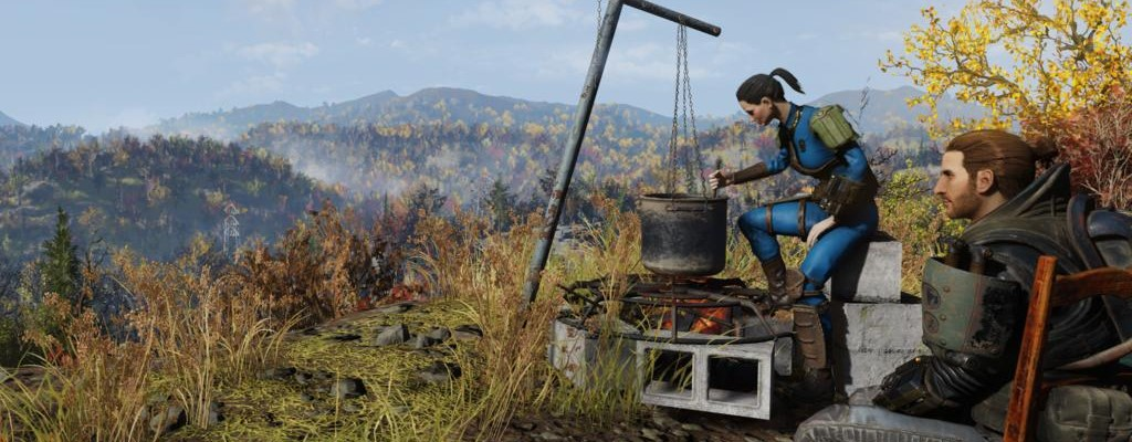 Fallout 76 jugador está hirviendo