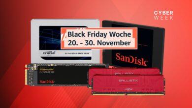 SSD y RAM al mejor precio durante la semana del Black Friday de Amazon