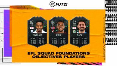 FIFA 21: logros de King, Sinclair y Dack: requisitos de los fundamentos del equipo de campeonato de EFL