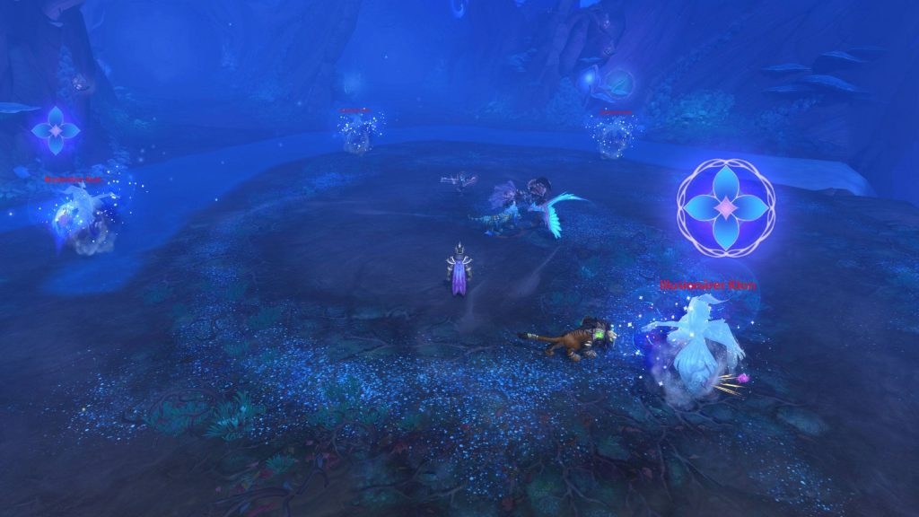WoW Shadowlands Mists of Tirna Scithe lucha de bailarines de niebla