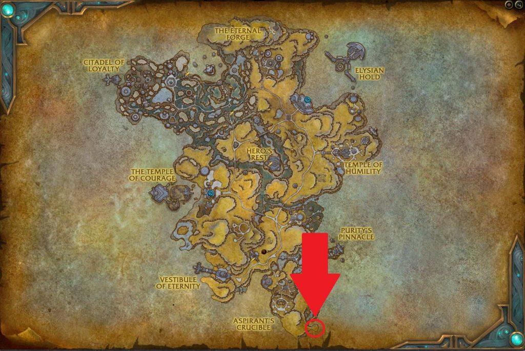 Mapa del Bastión de WoW Shadowlands