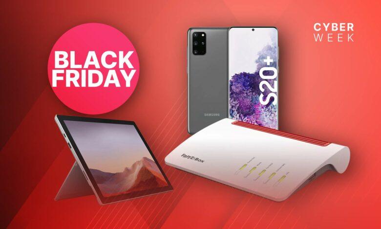 Amazon Black Friday: Samsung Galaxy S20 + y FRITZ! Caja en oferta