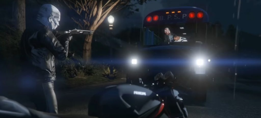 Autobús de GTA Online asaltado