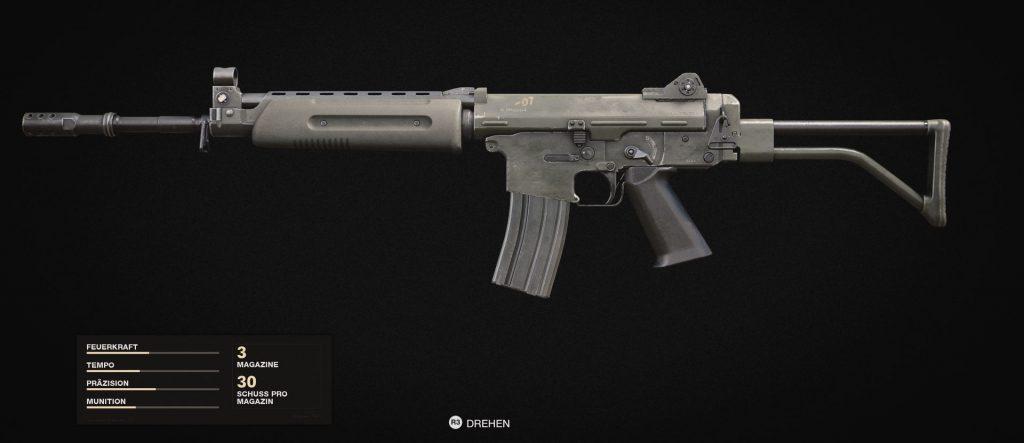 bacalao frío era armas rifle de asalto krig 6
