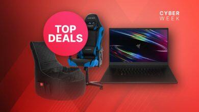 Amazon Black Friday: portátiles y sillas para juegos muy reducidos