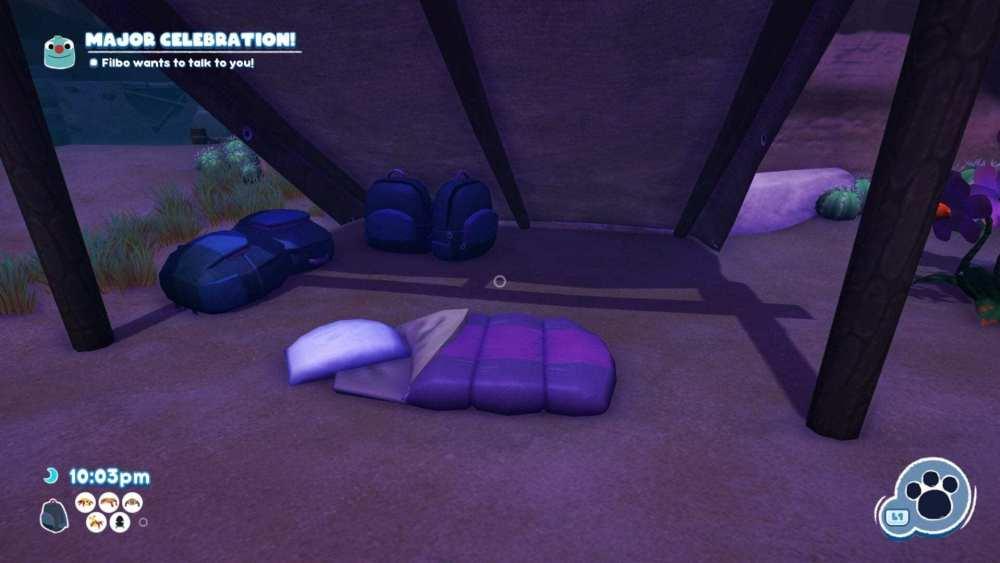 Bugsnax dormir pasar el tiempo