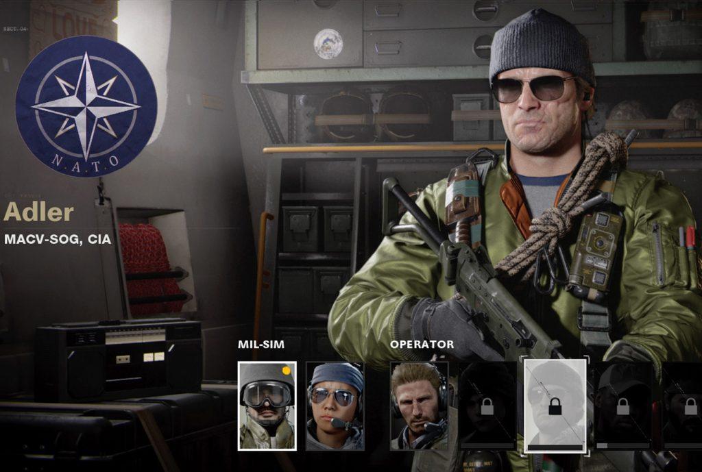 Operador de la Guerra Fría de CoD Adler