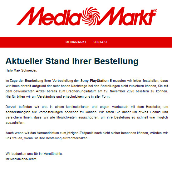 media market ps5 mail maik