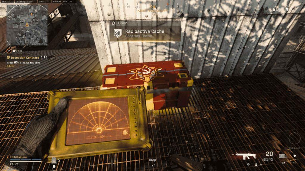 cod warzone sensor de guerra fría y orden de caja