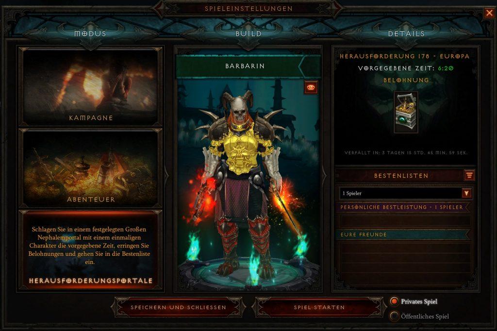 Diablo 3 Season 22 Start Challenge Rift