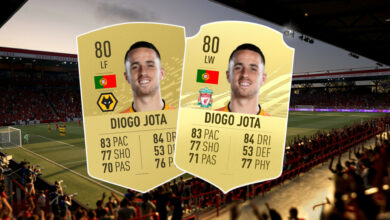 El delantero del Liverpool Jota se encuentra demasiado débil en FIFA 21: se queja de una calificación injusta