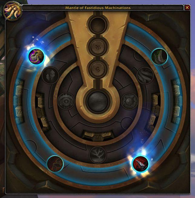 Captura de pantalla de WoW posibles talentos en la armadura de azerita